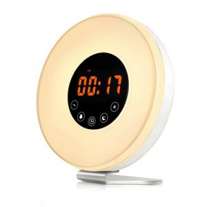 New Touch Wake-up Alarm Clock Touch Sensitive LED Light Simulation Digital Clock