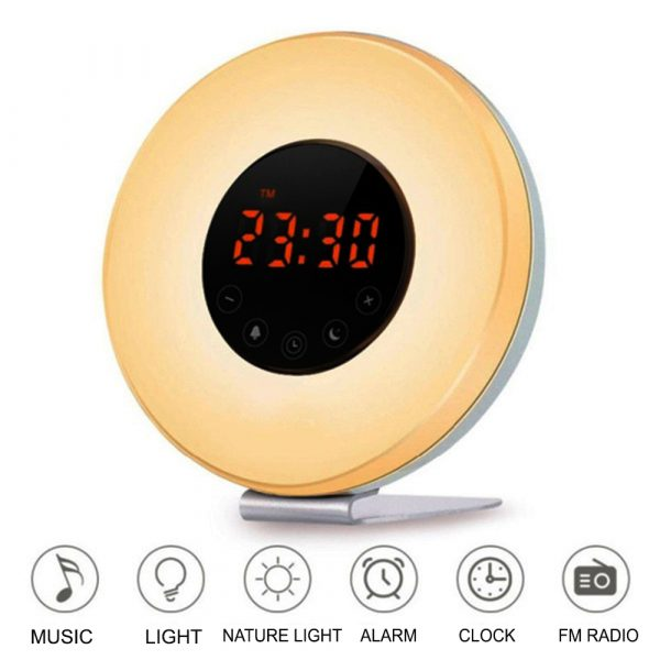 New Touch Wake-up Alarm Clock Touch Sensitive LED Light Simulation Digital Clock_4