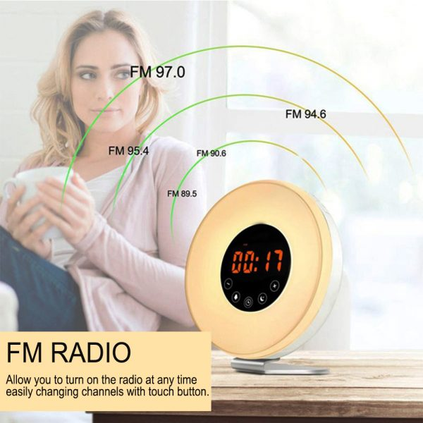 New Touch Wake-up Alarm Clock Touch Sensitive LED Light Simulation Digital Clock_5