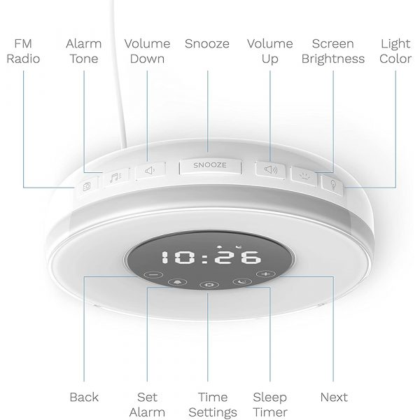 New Touch Wake-up Alarm Clock Touch Sensitive LED Light Simulation Digital Clock_8
