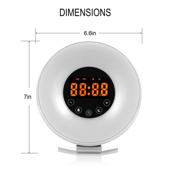 New Touch Wake-up Alarm Clock Touch Sensitive LED Light Simulation Digital Clock_9