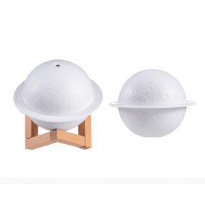 USB Rechargeable 3D Printed Planet Night Lamp and Essential Oil Diffuser for Home and Office