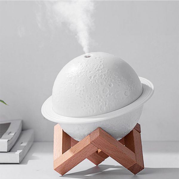 USB Rechargeable 3D Printed Planet Night Lamp and Essential Oil Diffuser for Home and Office_2