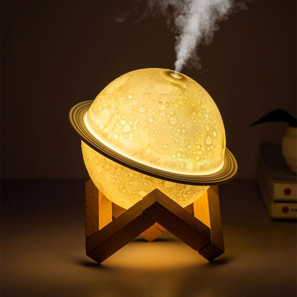 USB Rechargeable 3D Printed Planet Night Lamp and Essential Oil Diffuser for Home and Office_3