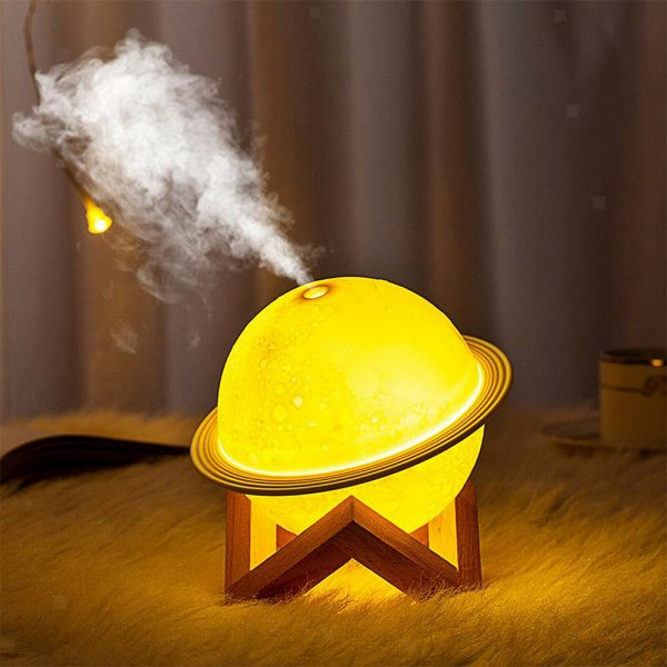 USB Rechargeable 3D Printed Planet Night Lamp and Essential Oil Diffuser for Home and Office_5