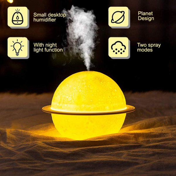 USB Rechargeable 3D Printed Planet Night Lamp and Essential Oil Diffuser for Home and Office_6