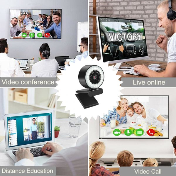 1080P HD Fixed Focus USB Webcam with Microphone for Desktop PC Web Camera_8