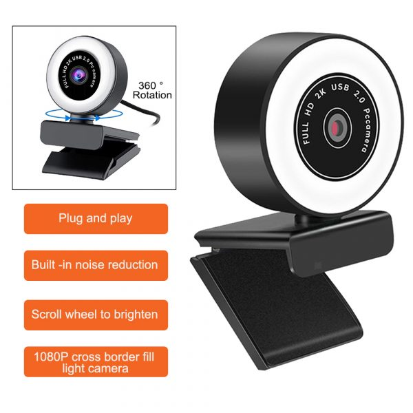 1080P HD Fixed Focus USB Webcam with Microphone for Desktop PC Web Camera_2