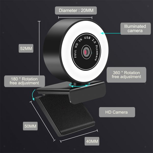 1080P HD Fixed Focus USB Webcam with Microphone for Desktop PC Web Camera_3