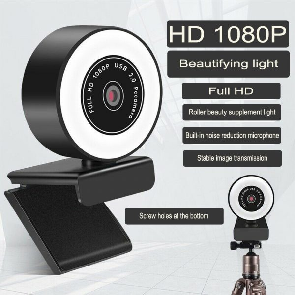 1080P HD Fixed Focus USB Webcam with Microphone for Desktop PC Web Camera_4