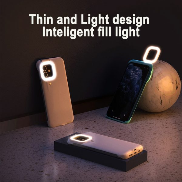 Mobile Phone Protective Phone Case with Fill Light and Reverse Charging Function_6