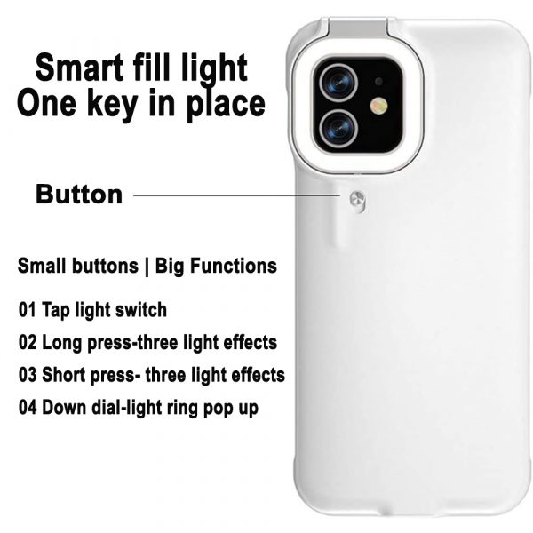 Mobile Phone Protective Phone Case with Fill Light and Reverse Charging Function_7