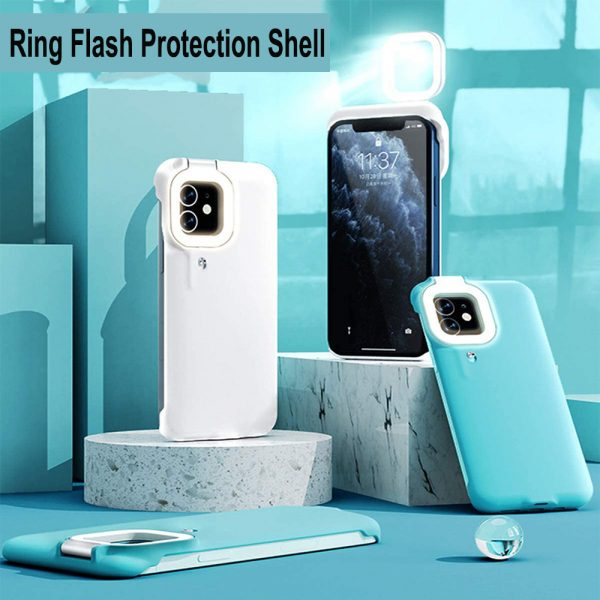Mobile Phone Protective Phone Case with Fill Light and Reverse Charging Function_9