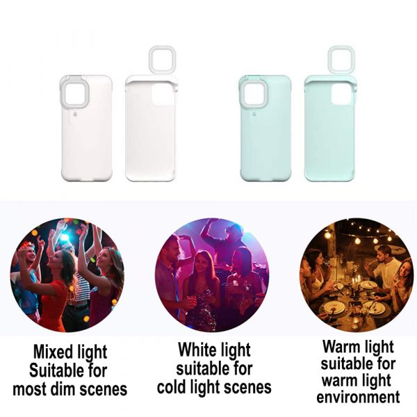 Mobile Phone Protective Phone Case with Fill Light and Reverse Charging Function_10