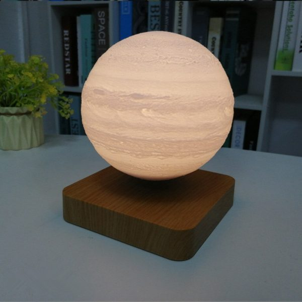 USB Charging 3D Magnetic Levitating LED Touch Night Lamp in Moon, Mars, and Jupiter_2