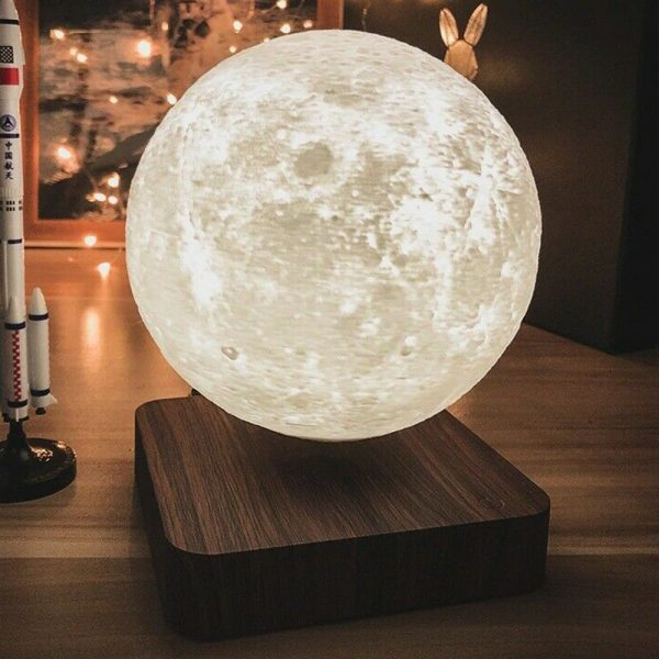 USB Charging 3D Magnetic Levitating LED Touch Night Lamp in Moon, Mars, and Jupiter_4