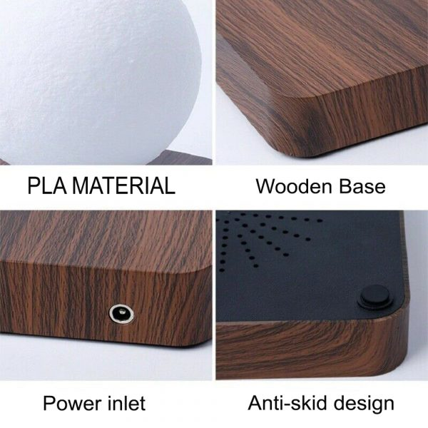 USB Charging 3D Magnetic Levitating LED Touch Night Lamp in Moon, Mars, and Jupiter_7
