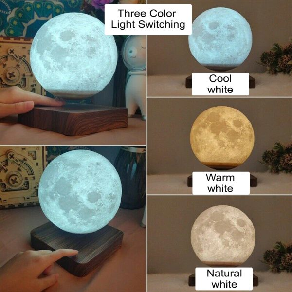 USB Charging 3D Magnetic Levitating LED Touch Night Lamp in Moon, Mars, and Jupiter_8