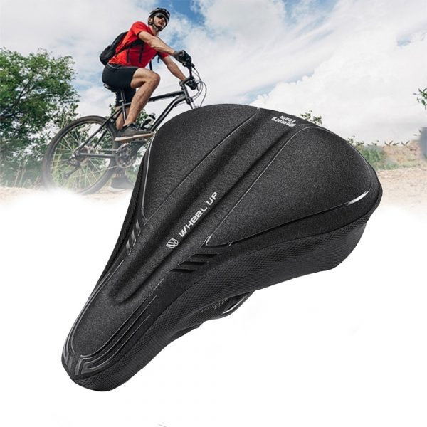 Comfortable MTB Bicycle Saddle Cover with Memory Foam Pad Bike Accessories Seat Cover_2