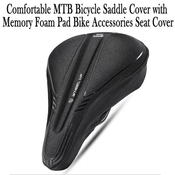 Comfortable MTB Bicycle Saddle Cover with Memory Foam Pad Bike Accessories Seat Cover_3