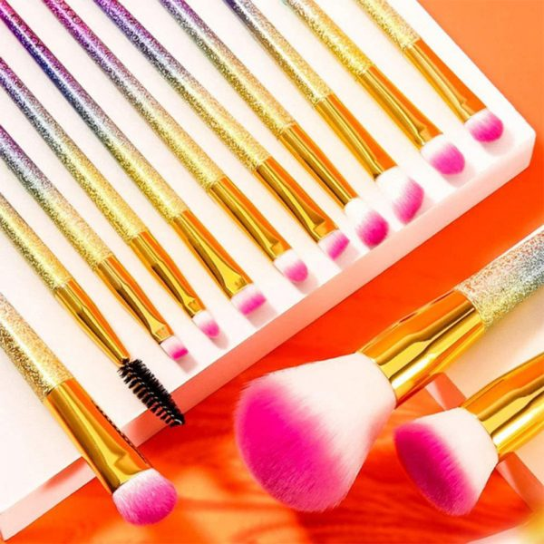 16-pcs Full Sized Cone Shaped Makeup Brush Set for Liquid and Powder Makeup_2