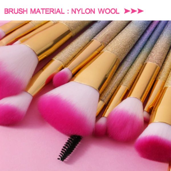 16-pcs Full Sized Cone Shaped Makeup Brush Set for Liquid and Powder Makeup_3