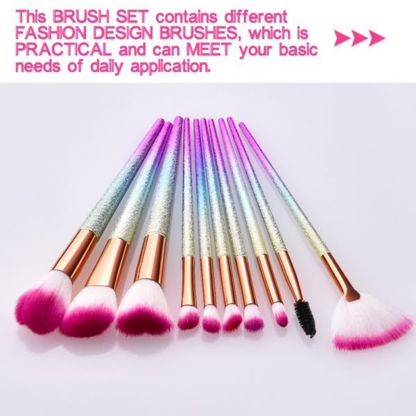 16-pcs Full Sized Cone Shaped Makeup Brush Set for Liquid and Powder Makeup_5