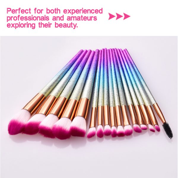 16-pcs Full Sized Cone Shaped Makeup Brush Set for Liquid and Powder Makeup_8
