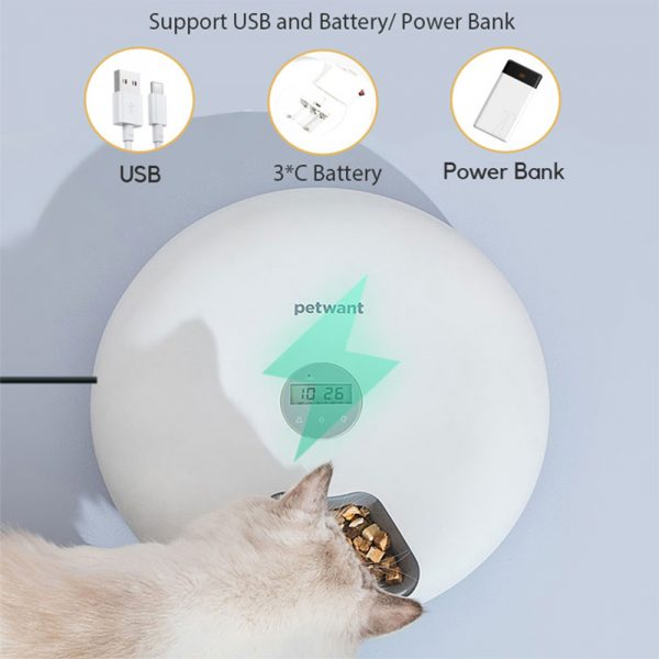Intelligent Wet & Dry Food Dispenser 6-Compartments 180ml Cat and Dog Pet Auto-Feeder_9