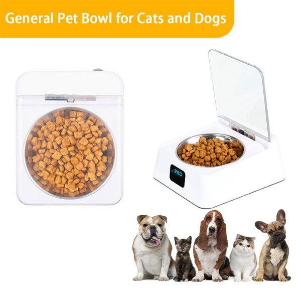 Infrared Sensor Automatically Opens Cover Cat and Dog Feeder Smart Pet Food Bowl_5
