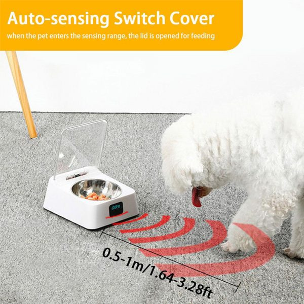 Infrared Sensor Automatically Opens Cover Cat and Dog Feeder Smart Pet Food Bowl_6