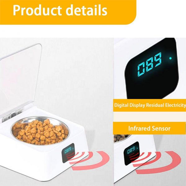 Infrared Sensor Automatically Opens Cover Cat and Dog Feeder Smart Pet Food Bowl_7