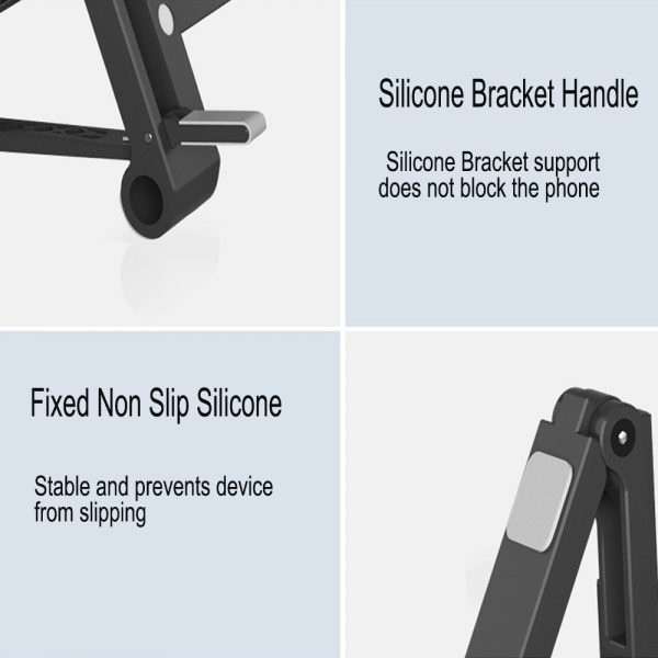 3-in-1 Multi-Function Folding Rack Bracket for Laptop Tablet and Phone Stand Holder_7