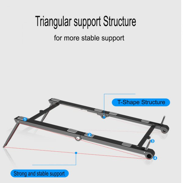 3-in-1 Multi-Function Folding Rack Bracket for Laptop Tablet and Phone Stand Holder_8