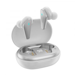 TWS Bluetooth 5.0 Binaural Wireless Noise Cancelling Sports Earbud with Mic and Charging Case