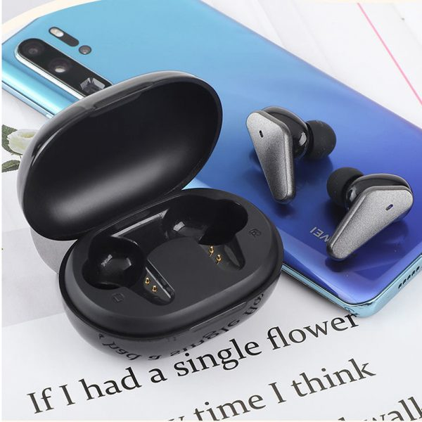 TWS Bluetooth 5.0 Binaural Wireless Noise Cancelling Sports Earbud with Mic and Charging Case_2
