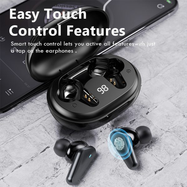 TWS Bluetooth 5.0 Binaural Wireless Noise Cancelling Sports Earbud with Mic and Charging Case_8