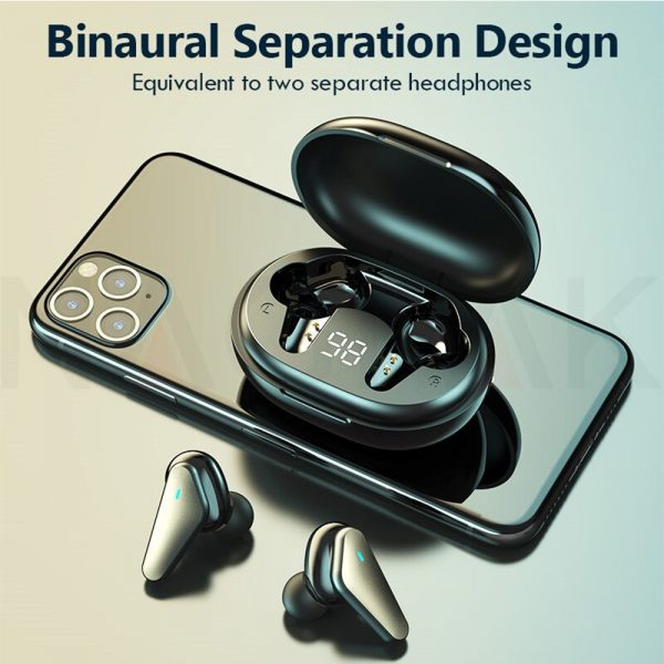TWS Bluetooth 5.0 Binaural Wireless Noise Cancelling Sports Earbud with Mic and Charging Case_11