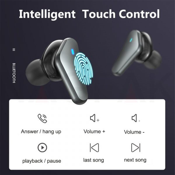 TWS Bluetooth 5.0 Binaural Wireless Noise Cancelling Sports Earbud with Mic and Charging Case_12