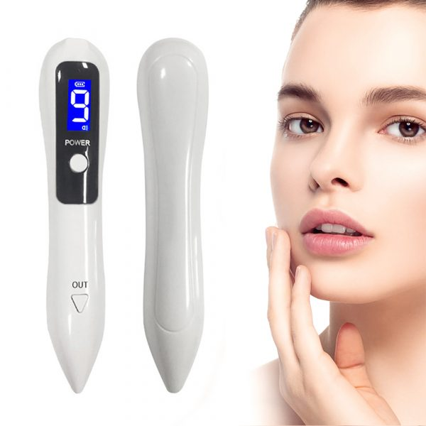 9 Speed USB Rechargeable Spotlight Mole Freckle and Spot Scanner and Remover Pen_2
