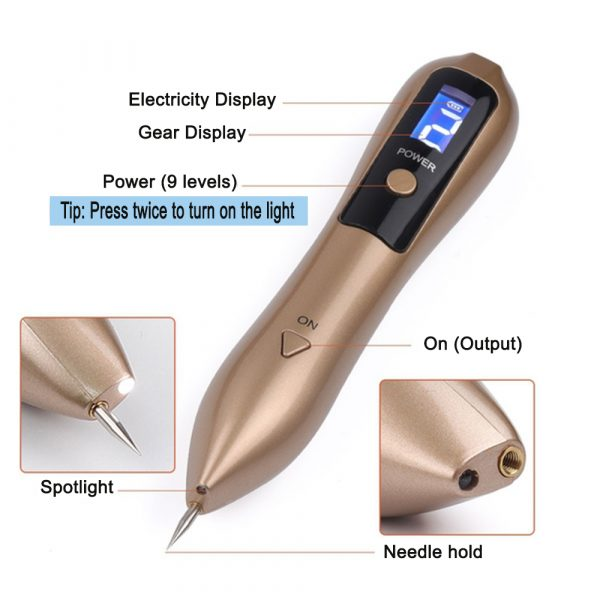 9 Speed USB Rechargeable Spotlight Mole Freckle and Spot Scanner and Remover Pen_8
