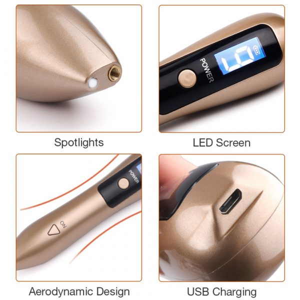 9 Speed USB Rechargeable Spotlight Mole Freckle and Spot Scanner and Remover Pen_9