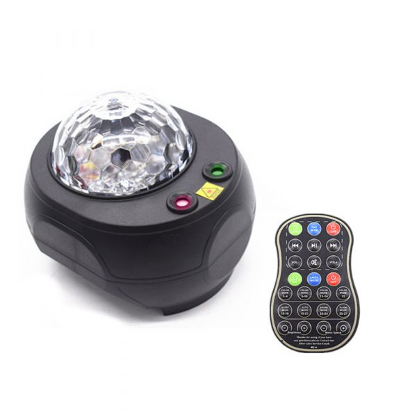Colorful LED Star Night Light and Rotating Ocean Wave Projector and BT Musical Nebula Lamp_0