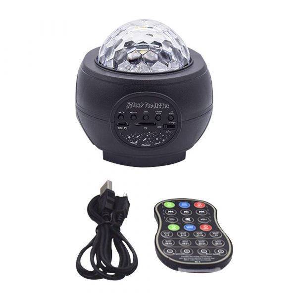 Colorful LED Star Night Light and Rotating Ocean Wave Projector and BT Musical Nebula Lamp_1