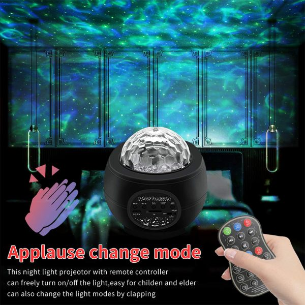Colorful LED Star Night Light and Rotating Ocean Wave Projector and BT Musical Nebula Lamp_6