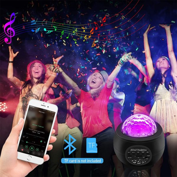 Colorful LED Star Night Light and Rotating Ocean Wave Projector and BT Musical Nebula Lamp_7
