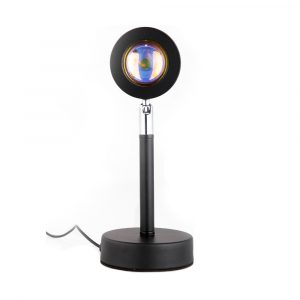 LED Sunset Sunlight and Rainbow Night Light Projector Lamp for Bedroom Home and Office