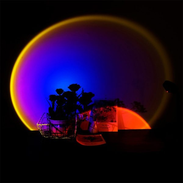 LED Sunset Sunlight and Rainbow Night Light Projector Lamp for Bedroom Home and Office_5