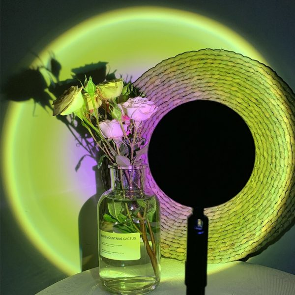 LED Sunset Sunlight and Rainbow Night Light Projector Lamp for Bedroom Home and Office_7