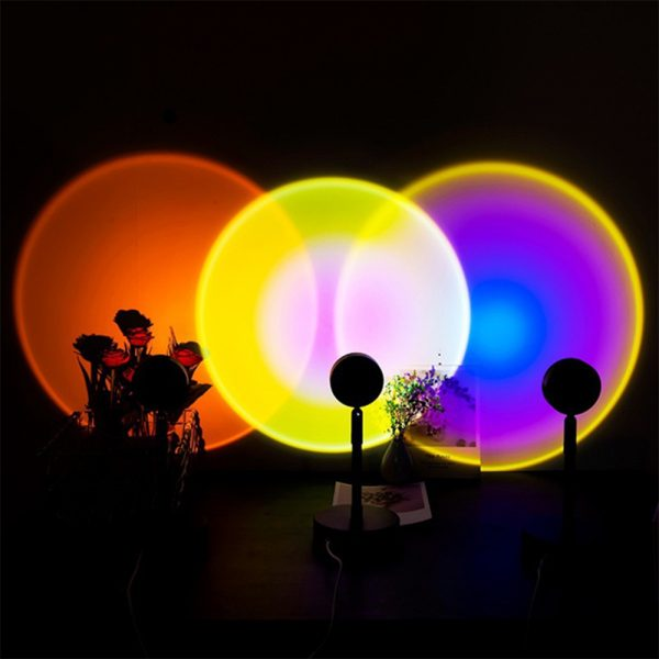 LED Sunset Sunlight and Rainbow Night Light Projector Lamp for Bedroom Home and Office_13